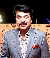 Mammootty at the 62nd Filmfare South Awards, 2015
