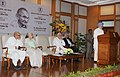 Manmohan Singh addressing at the launch of the Gandhi Heritage Portal, in New Delhi. The Union Minister for Communications & Information Technology and Law & Justice, Shri Kapil Sibal, the Union Minister for Culture.jpg