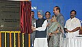 Manmohan Singh laying the foundation stone of the Redevelopment Project of Lady Hardinge Medical College, in Delhi. The Union Minister for Health and Family Welfare, Shri Ghulam Nabi Azad.jpg