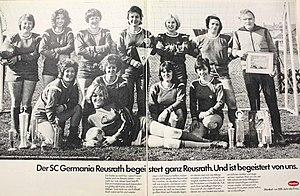 Mannschaftsfoto SC Germania Reusrath Frauenfußball