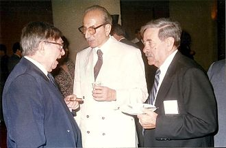 Mansur al-Atrash - Baath Party veterans at a cocktail reception in 2002