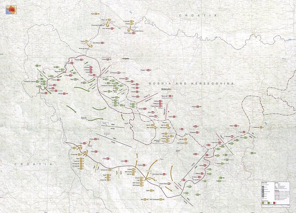 Map 51 - Western Bosnia - September-October 1995