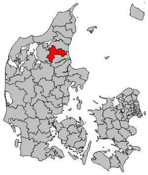 Rebild Municipality - Location of Rebild municipality