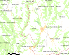 Map commune FR insee code 15122.png