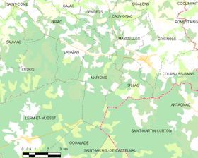 Map commune FR insee code 33271.png