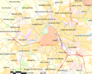 里尔市镇地图