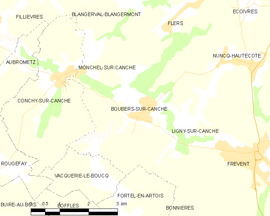 Mapa obce Boubers-sur-Canche
