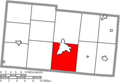 Location of Urbana Township in Champaign County