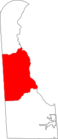 Map of Delaware highlighting Kent County