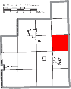 Location of Huntsburg Township in Geauga County