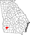 Map of Georgia highlighting Baker County.svg