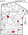 Map of Jefferson County Pennsylvania With Municipal and Township Labels.png