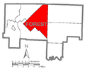 Map of Kingsley Township, Forest County, Pennsylvania Highlighted.png