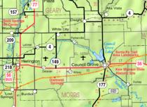 Map of Morris Co, Ks, USA.png