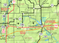 Map of Morris Co, Ks, USA.png