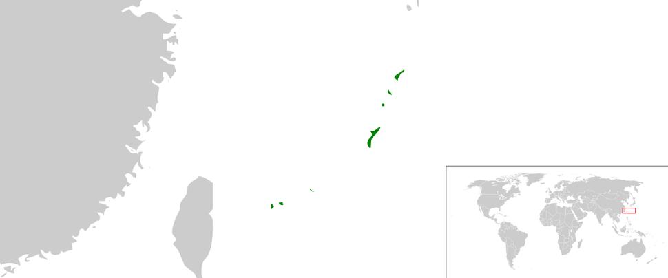 Map of Ryukyu Kingdom