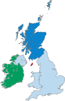 Scotland's location within the UK