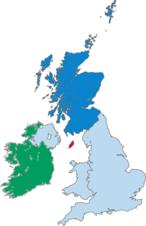 Scotland's location within the United Kingdom