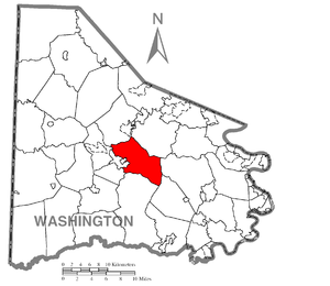 South Strabane Township, Washington County, Pennsylvania - Image: Map of South Strabane Township, Washington County, Pennsylvania Highlighted