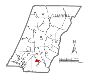 Map of St. Michael-Sidman, Cambria County, Pennsylvania Highlighted.png