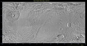 Tethys (moon) - Tethys basemap (trailing hemisphere on the right)