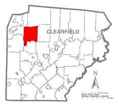 Map of Union Township, Clearfield County, Pennsylvania Highlighted.png