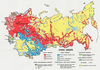 Demographics of the Soviet Union - Ethnographic map of the Soviet Union