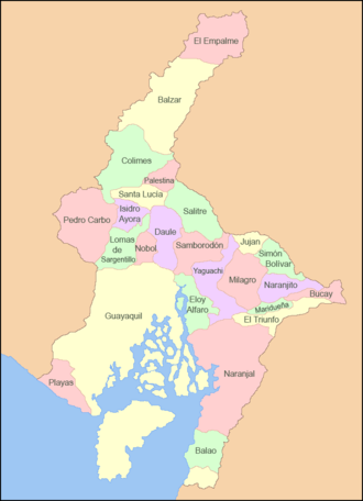Guayas Province - Image: Mapa Sageo Guayas 02