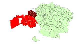 Enkarterri - Image: Mapa encartaciones