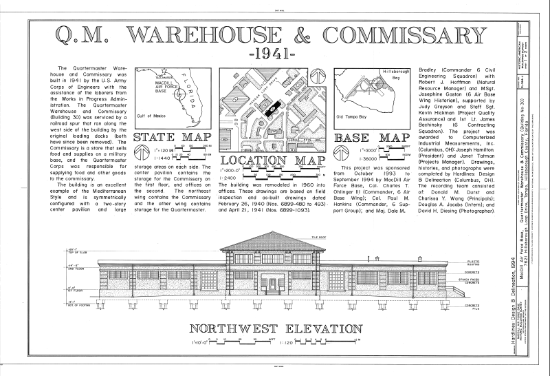 File Maps And Northwest Elevation Macdill Air Force Base