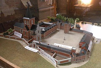 Maroilles Abbey - Model of the abbey of Maroilles.