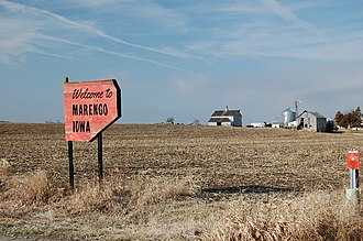 Marengo, Iowa - Sign entering Marengo