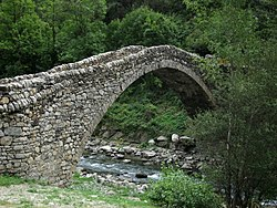 The 12th-century Romanesque bridge, Pont de la Margineda