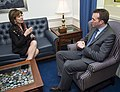 Maria Contreras-Sweet meets with Eric Fanning, 2014.jpg