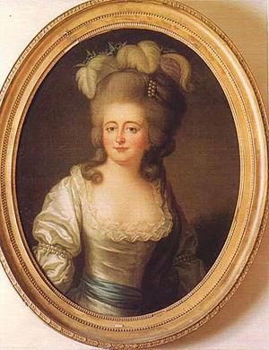 Madame de Montesson - Charlotte-Jeanne Béraud de la Haye de Riou, Marquise de Montesson, as painted by Vigée-Lebrun, ca. 1780-90.