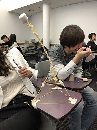 Iterative design - Marshmallow challenge winning work.