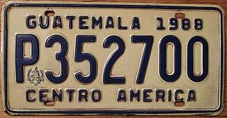 Vehicle registration plates of Guatemala Guatemala vehicle license plates