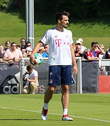 Hummels in allenamento al Bayern Monaco nel 2018