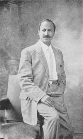 Matthew Henson - Photograph of Henson in civilian clothing, taken from his 1912 book A Negro Explorer at the North Pole.