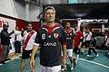 Mauricio Macri participó de un partido de fútbol con Ariel Ortega y Enzo Francéscoli (9726677902).jpg