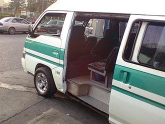 Maxi taxi - A Chaguanas/Couva Maxi-taxi awaiting passengers.