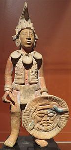 Maya standing male warrior, Jaina, c. 550-950 C.E., long-term loan to the Dayton Art Institute.JPG