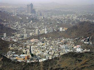 Mecca - Mecca seen from Jabal al-Nour, 2009.