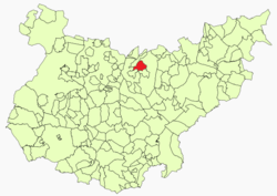 Location of the municipality of Medellín within Extremadura