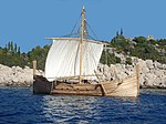 Megiste-Bronze Reconstruction of a Mycenaean ship.jpg