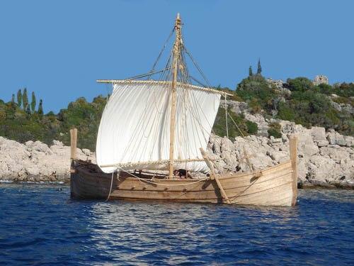 Megiste-Bronze Reconstruction of a Mycenaean ship