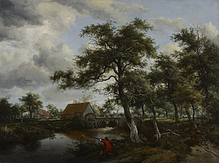 Wooded Landscape with Watermill