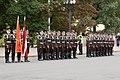 Melnkalnes premjers un Ministru prezidents Valdis Dombrovskis noliek ziedus pie Brīvības pieminekļa 31.08.2011. (6099390568).jpg