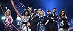 Melodifestivalen 2019, deltävling 1, Scandinavium, Göteborg, programledarna, 6.jpg