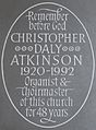 Memorial to Christopher Daly Atkinson in St Oswald's Church, Ashbourne.jpg